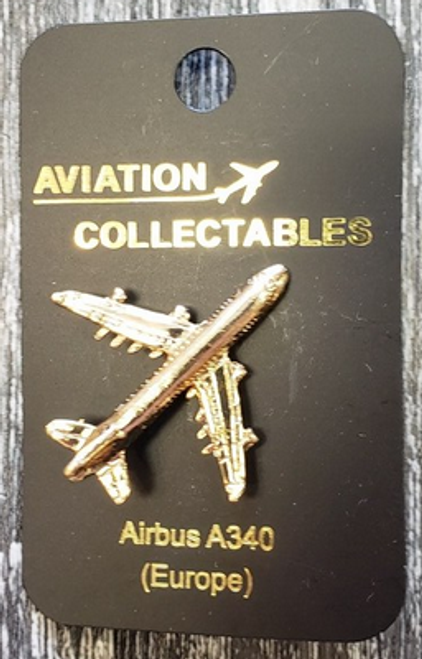 Lapel pin - Airbus A340 - gold-tone