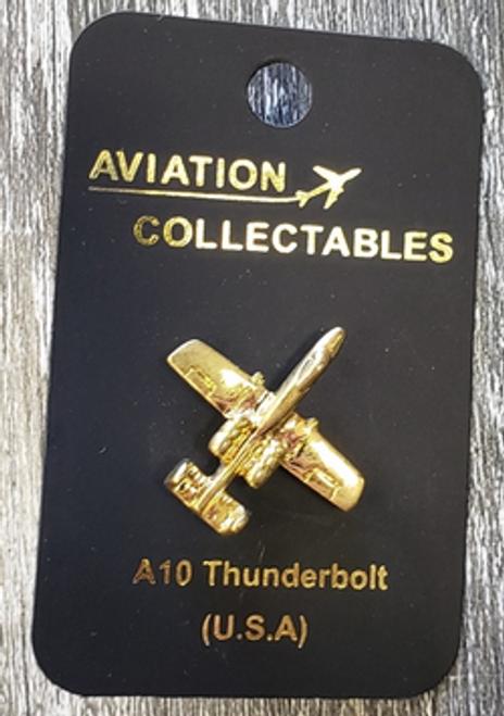 Lapel pin - A10 Thunderbolt- gold-tone