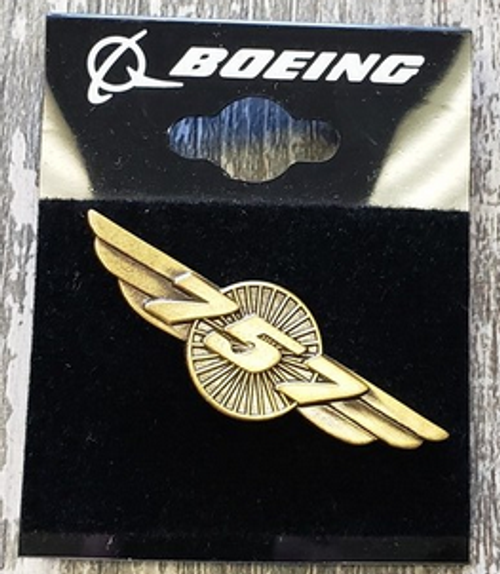 Lapel pin - Boeing 757 Wings - gold-tone