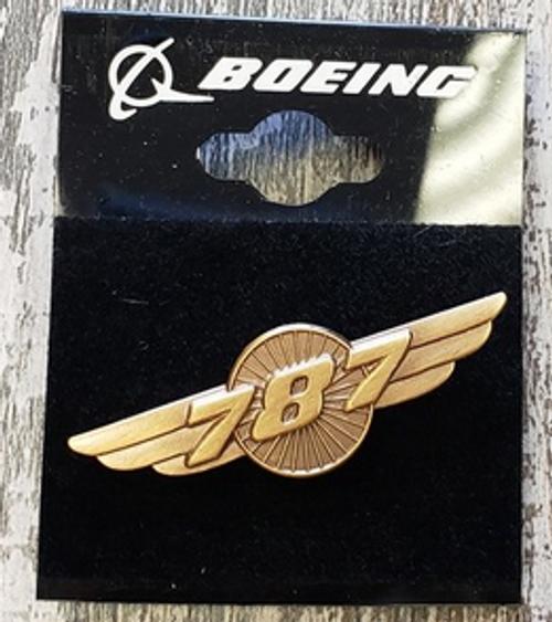Lapel pin - Boeing 787 Wings - gold-tone