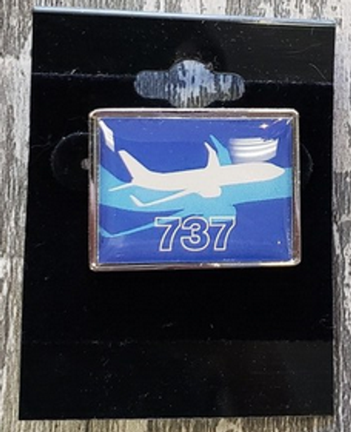 Lapel pin - Boeing 737 Shadow Graphic Pin