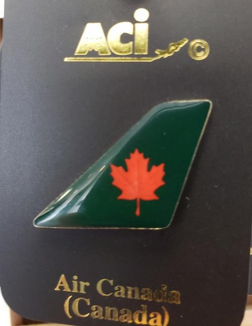 Lapel pin - Air Canada green tail