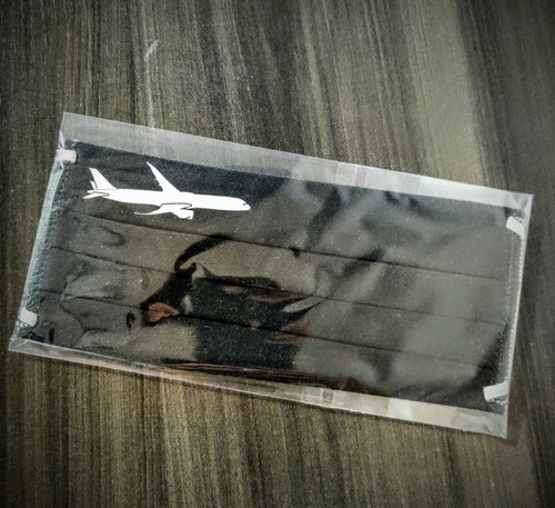 Reusable Aviation Mask: Boeing 787 BLACK (Mask-8)
