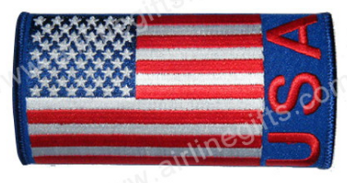 USA Flag Embroidered Handle Wrap
