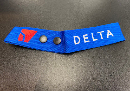 Delta Embroidered Luggage Tag