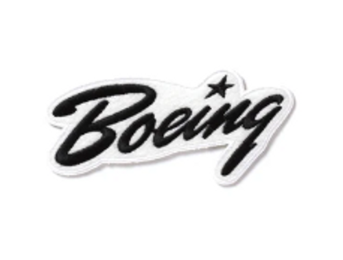 Boeing Heritage Script Iron Patch