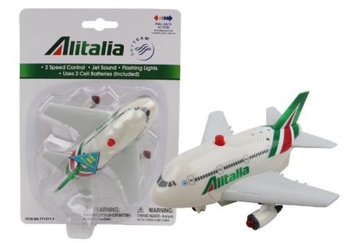 Alitalia Pullback W/Light & Sound