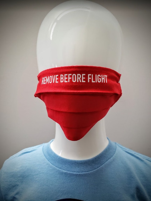 Childrens Reusable Mask: Remove Before Flight Red