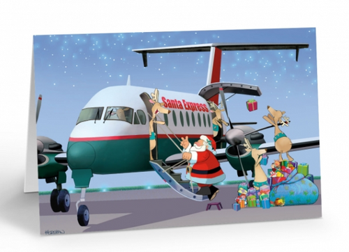 """Santa Express"" Christmas Card pack"