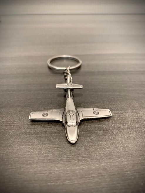 Snowbirds Brass Keychain - Silver