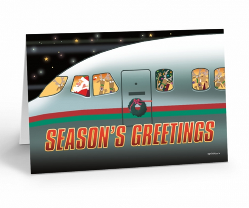 """ Airline Holiday Express "" Christmas Card pack"
