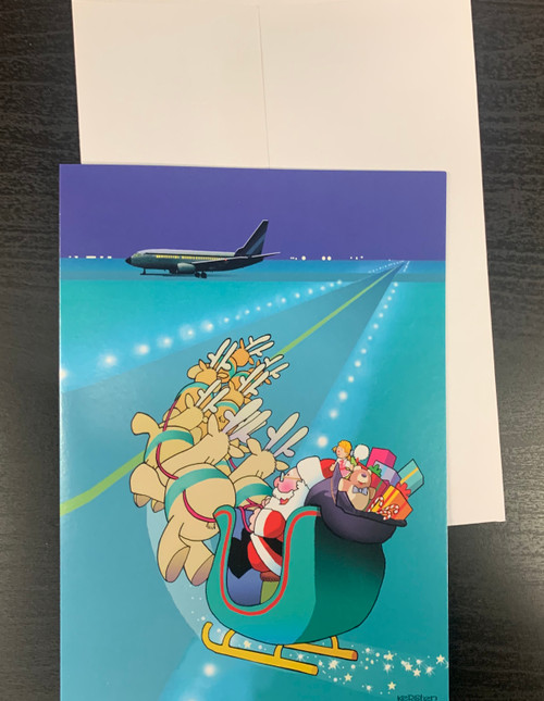 """ Airport Runway Landing   "" Single Card"