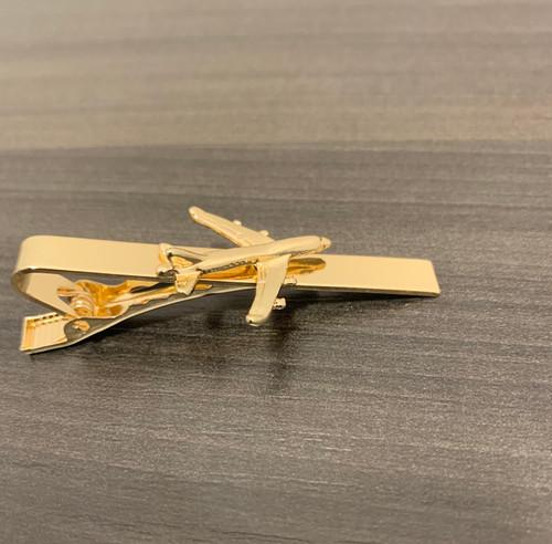 Gold 747 Tie Bar