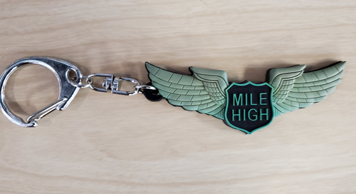 Mile High Wings Keychain