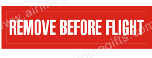 Remove Before Flight Embroidered Patch