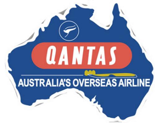 Qantas Retro Iron Patch