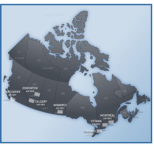 Canada VFR Terminal Area Charts (VTA - 1:250,000)
