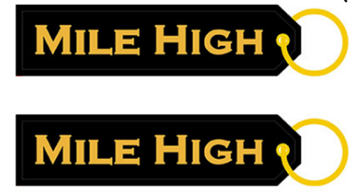 Embroidered Keychain - Mile High Both Sides