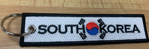 Embroidered Keychain - South Korean Flag