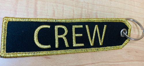 Embroidered Keychain - Crew (Gold)