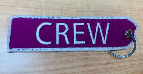Embroidered Keychain - Crew (Purple)