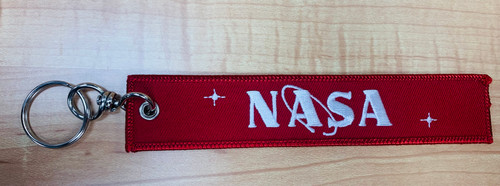 Embroidered Keychain - Remove Before Flight  NASA (Red)