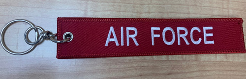 Embroidered Keychain - Remove Before Flight Air Force (Red)