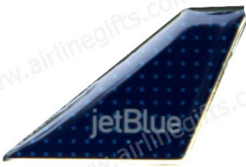 Lapel pin - jetBlue Tail (Squares)
