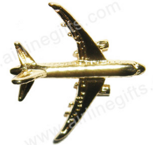 Lapel pin - Boeing 787 - Gold Finish