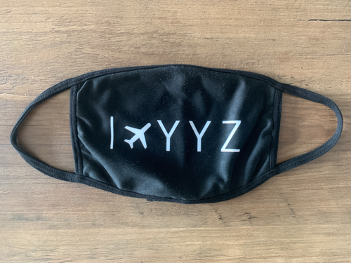Reusable Aviation Mask: I Fly YYZ