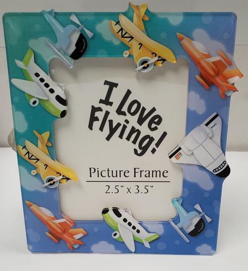 I Love Flying Picture Frame Magnet