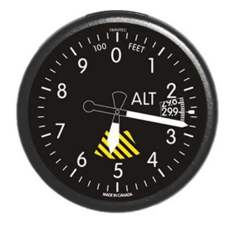 Classic Altimeter Round Fridge Magnet