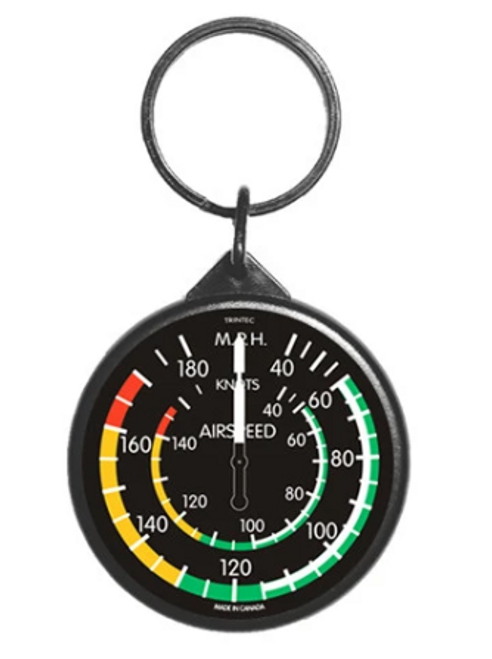 Classic Airspeed Instrument Keychain
