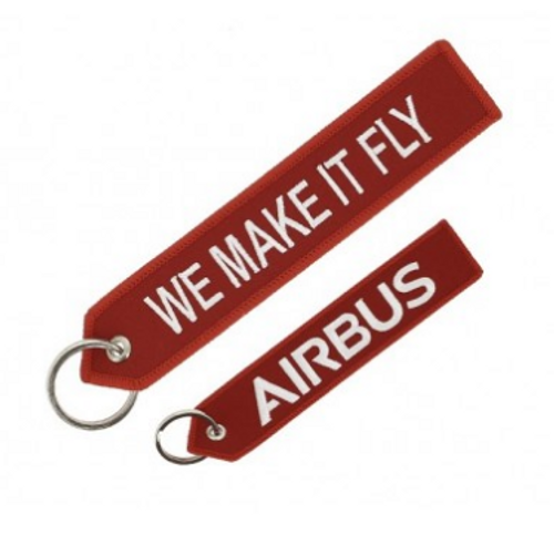 Embroidered Keychain -  Airbus We Make it Fly (Red)