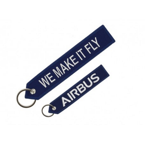 Embroidered Keychain -  Airbus We Make it Fly (Blue)