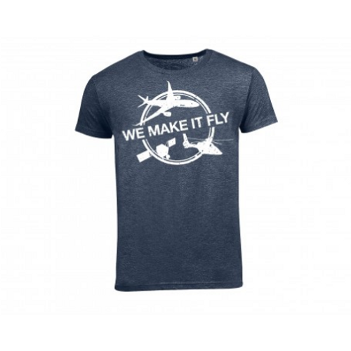 Airbus We Make It Fly T-Shirt (Blue)
