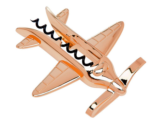 Godinger Airplane Corkscrew Copper