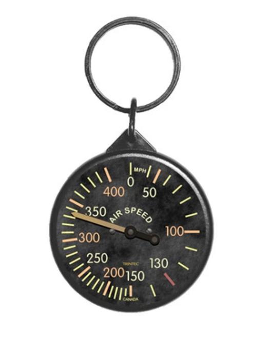 Vintage Airspeed Instrument Keychain