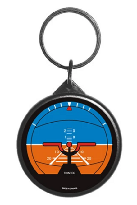 Classic Artificial Horizon Instrument Keychain