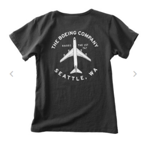 Boeing Company Ladies T-Shirt (Slate)
