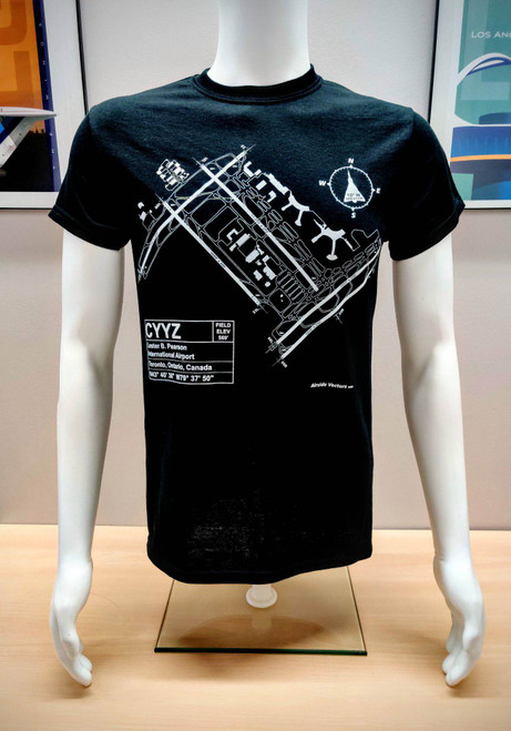 YYZ Toronto Airport Map T-Shirt