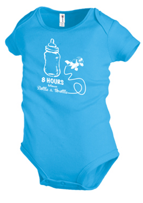8 Hours Bottle to Throttle Onesie (Blue)