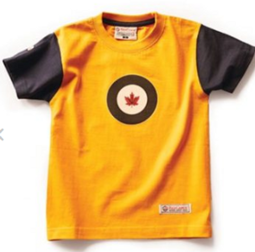 RCAF Yellow Color Block Youth T-Shirt