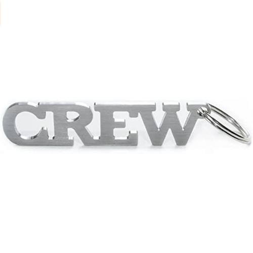 Crew Metal Keychain