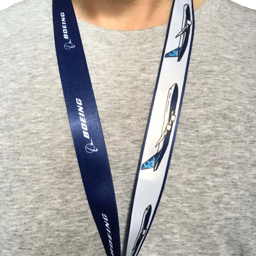 Boeing Illustrated Boeing Corporation Aircraft Family Lanyard