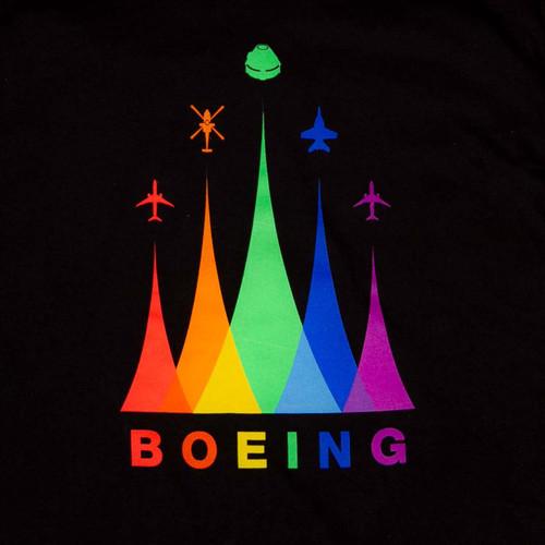 Boeing Pride T-Shirt (Black)