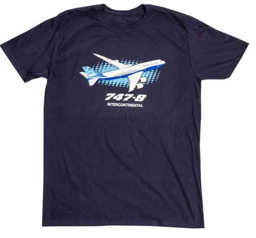 Boeing 747-8 Illustrated T-Shirt