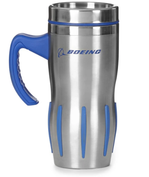 Boeing Jet Engine Stainless Grip Tumbler w/Handle