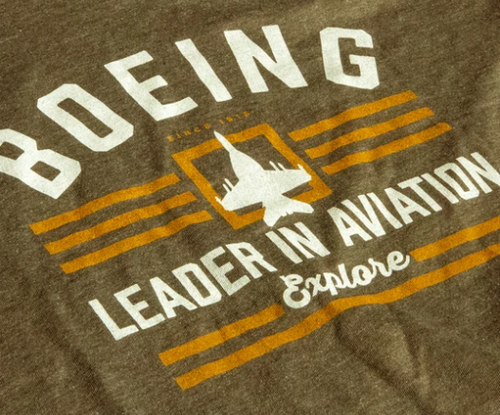Boeing Explore T-Shirt (Army Green)