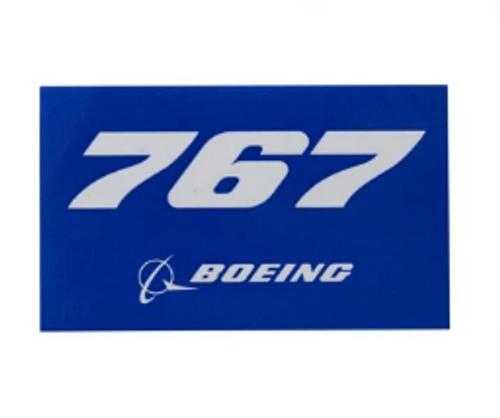 767 Blue Sticker